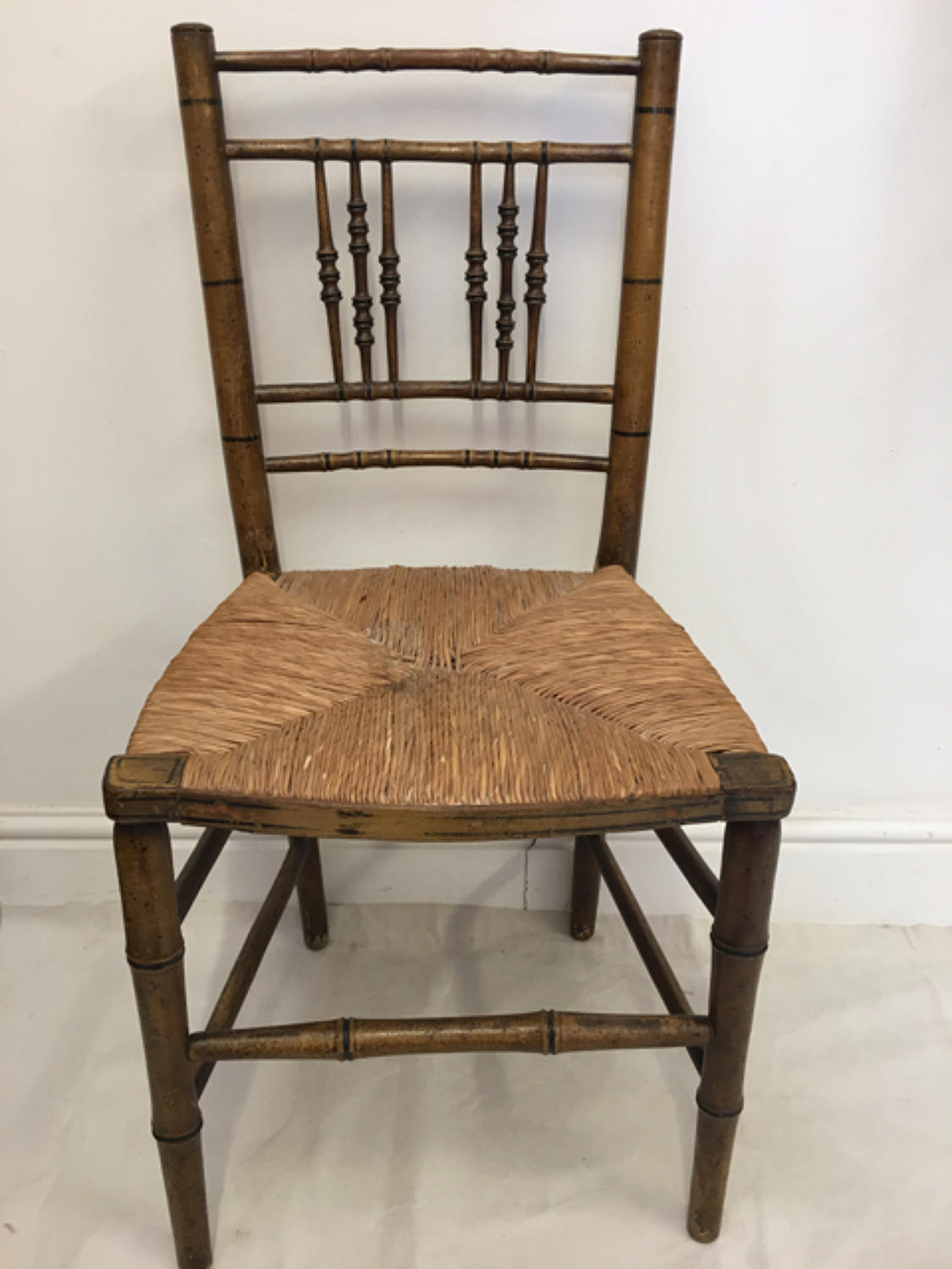 Early 19th Century chair with faux bamboo paint finish