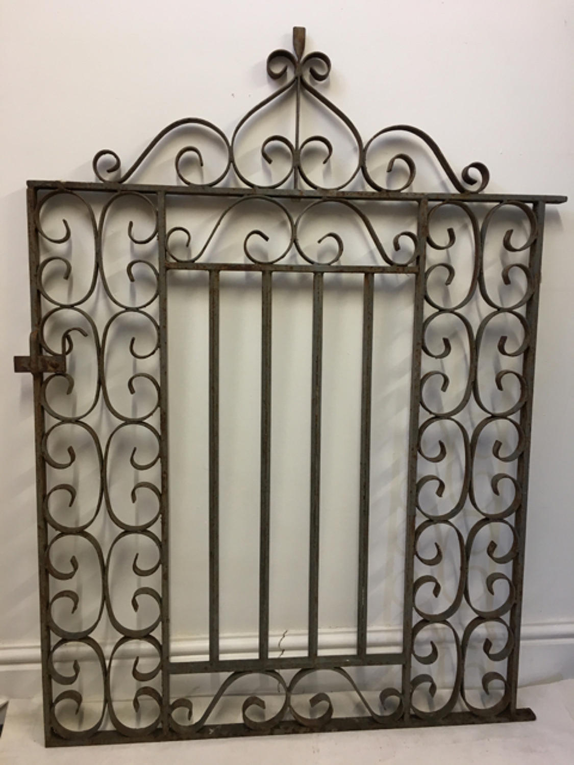 Rustic cast iron garden gate