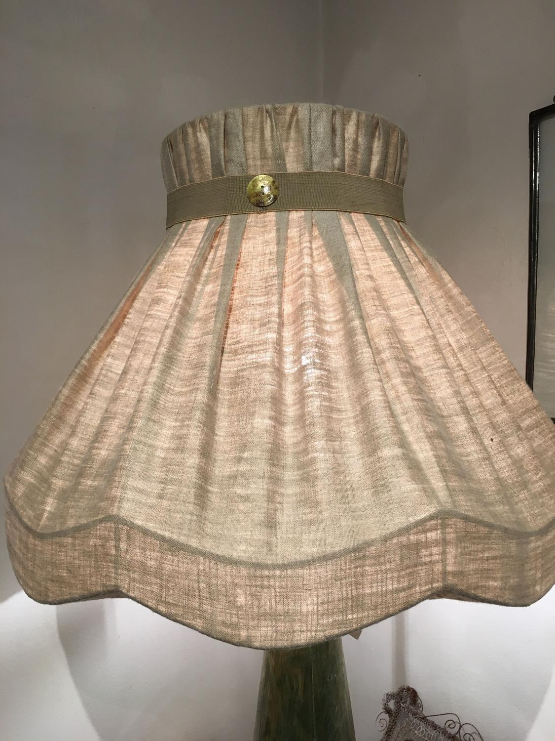 Large lampshade in antique linen