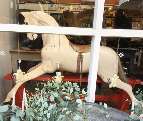 Stunning antique rocking horse