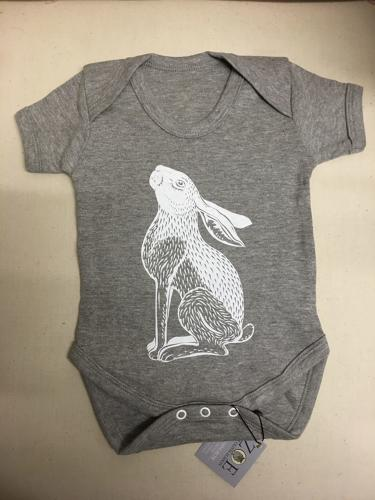 Moon gazing hare baby grows by Zoe Olivia Elsdon