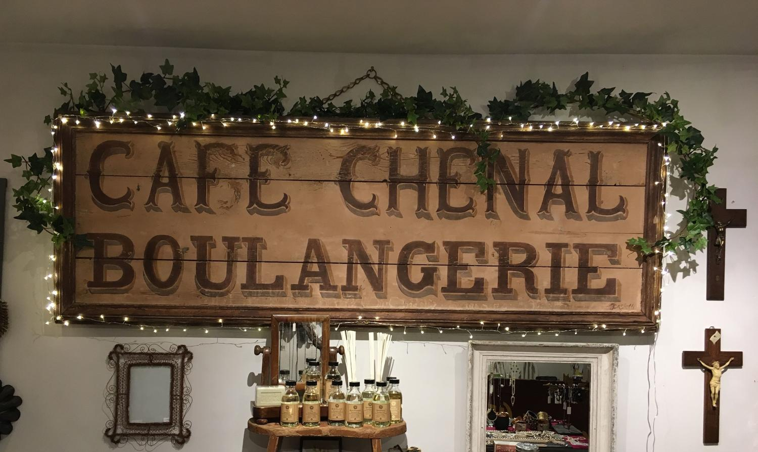 Huge antique French Boulangerie sign