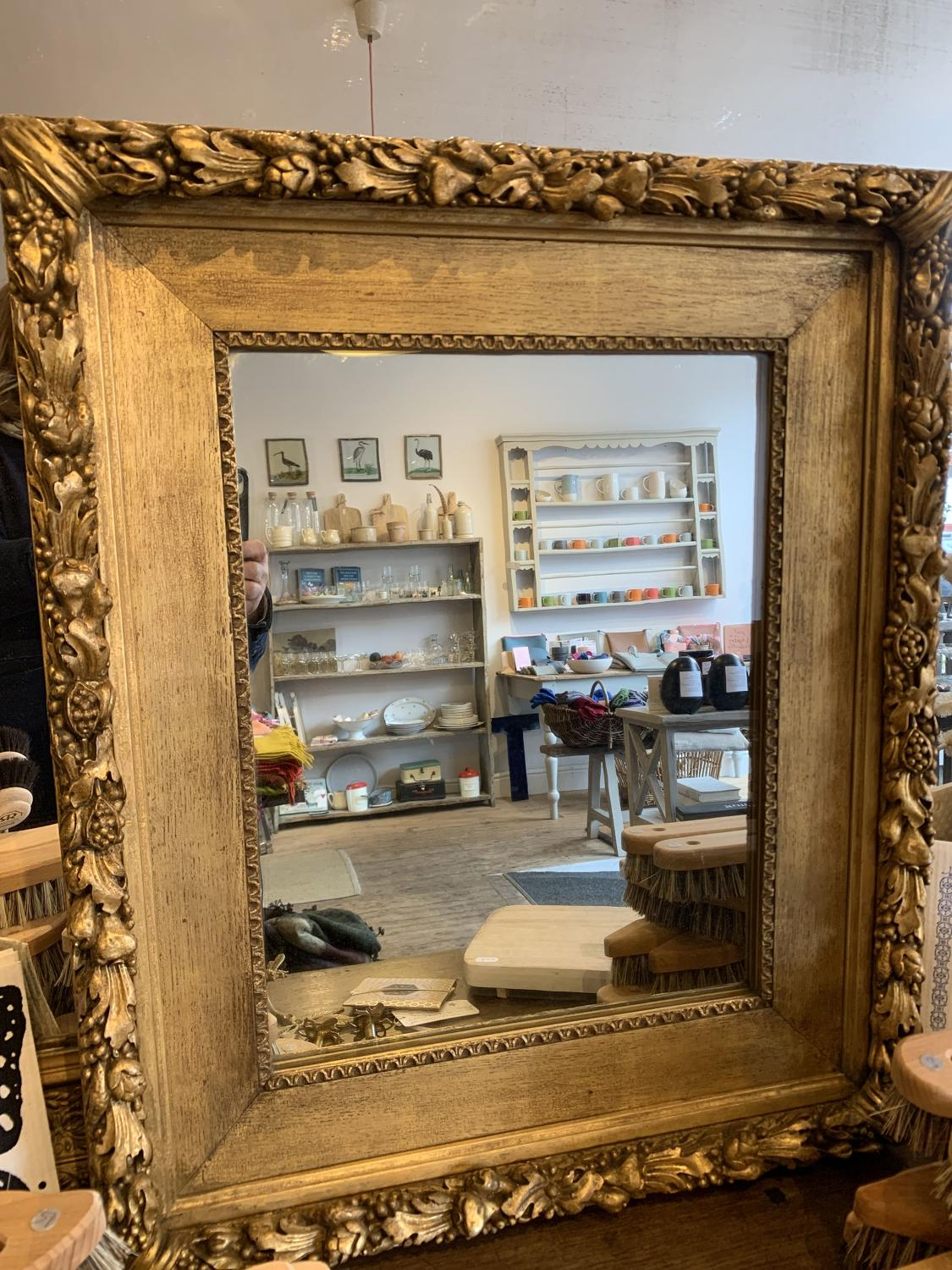 Antique Gilt frame with later mirror