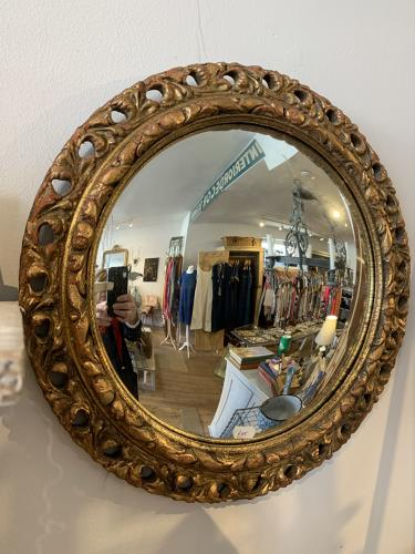Mid century domed mirror