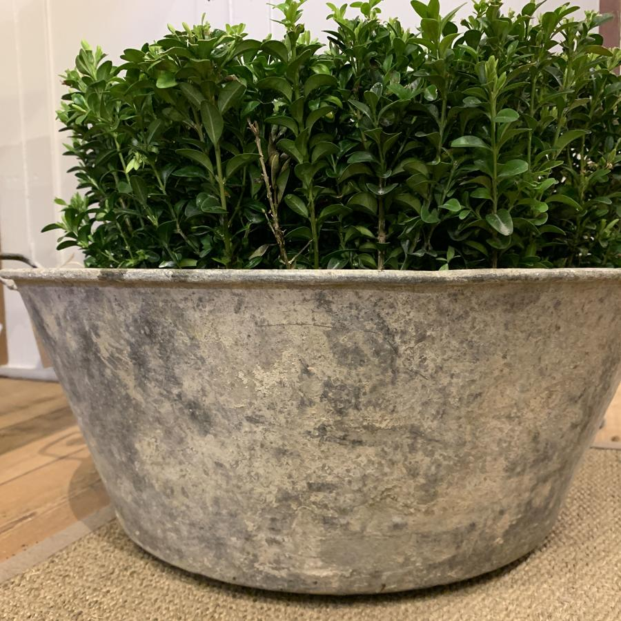 Galvanised wash tub with handles
