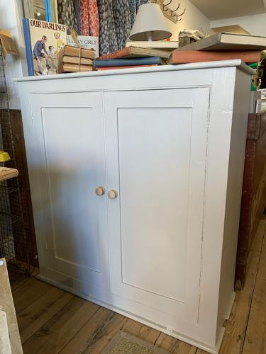 Victorian painted pine cupboard