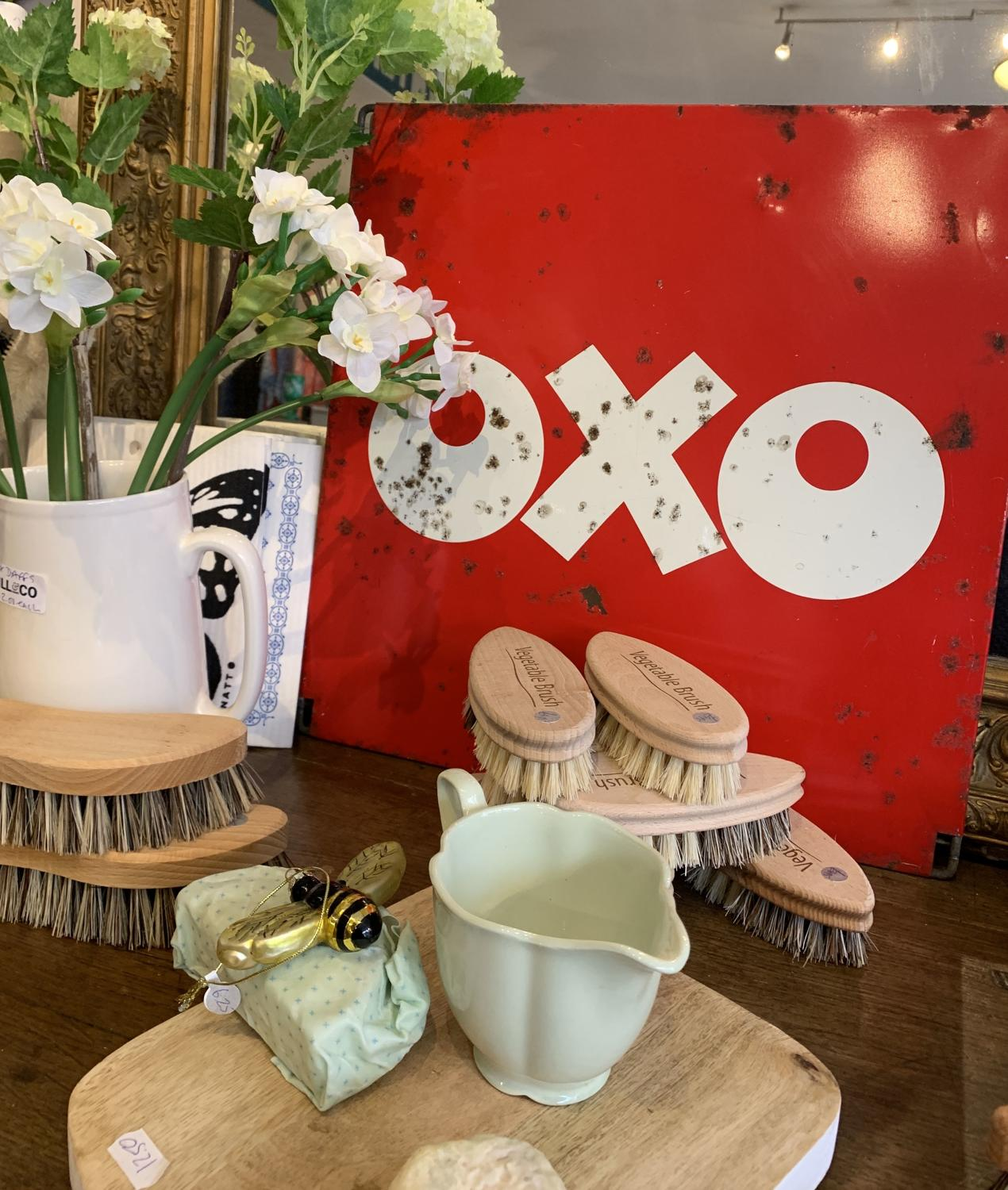 Vintage metal 'Oxo' sign