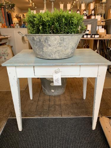 Little painted French pine table