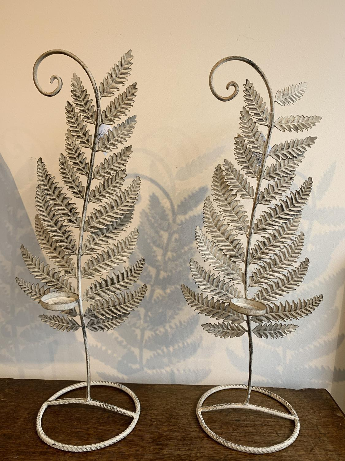 Metal fern tealight holders
