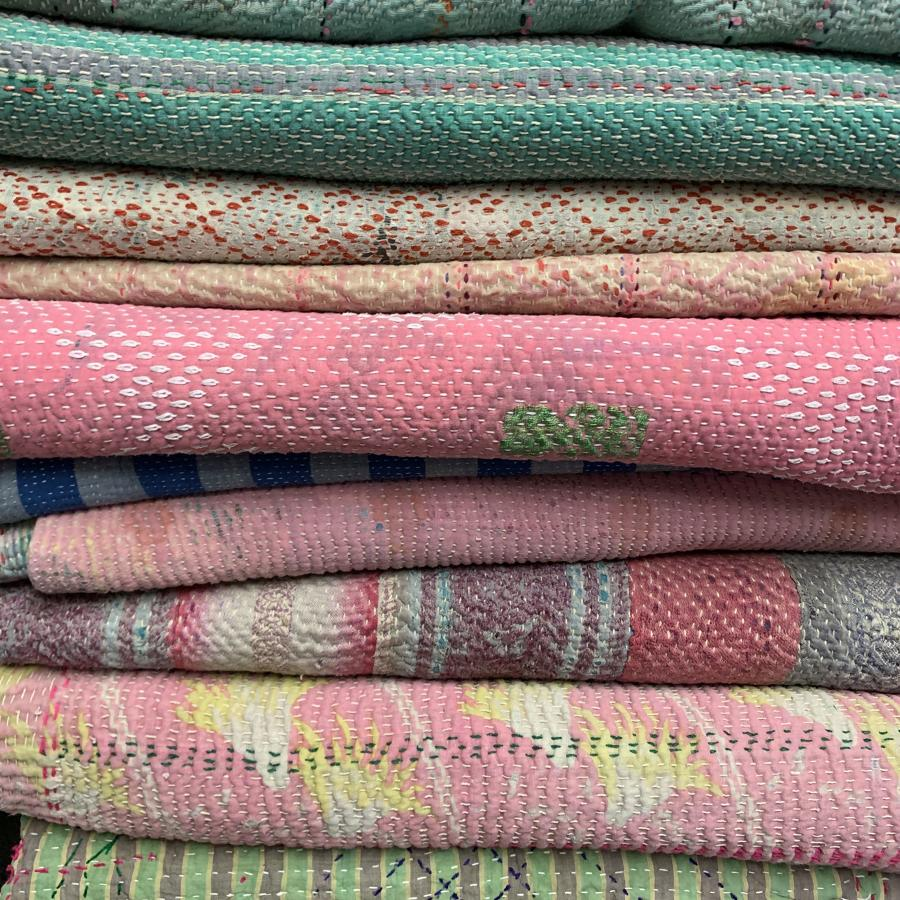 Antique Kantha quilts