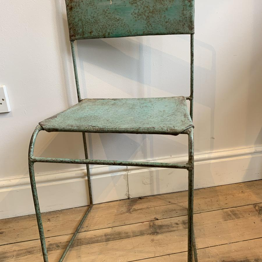 Vintage metal chair with original paint