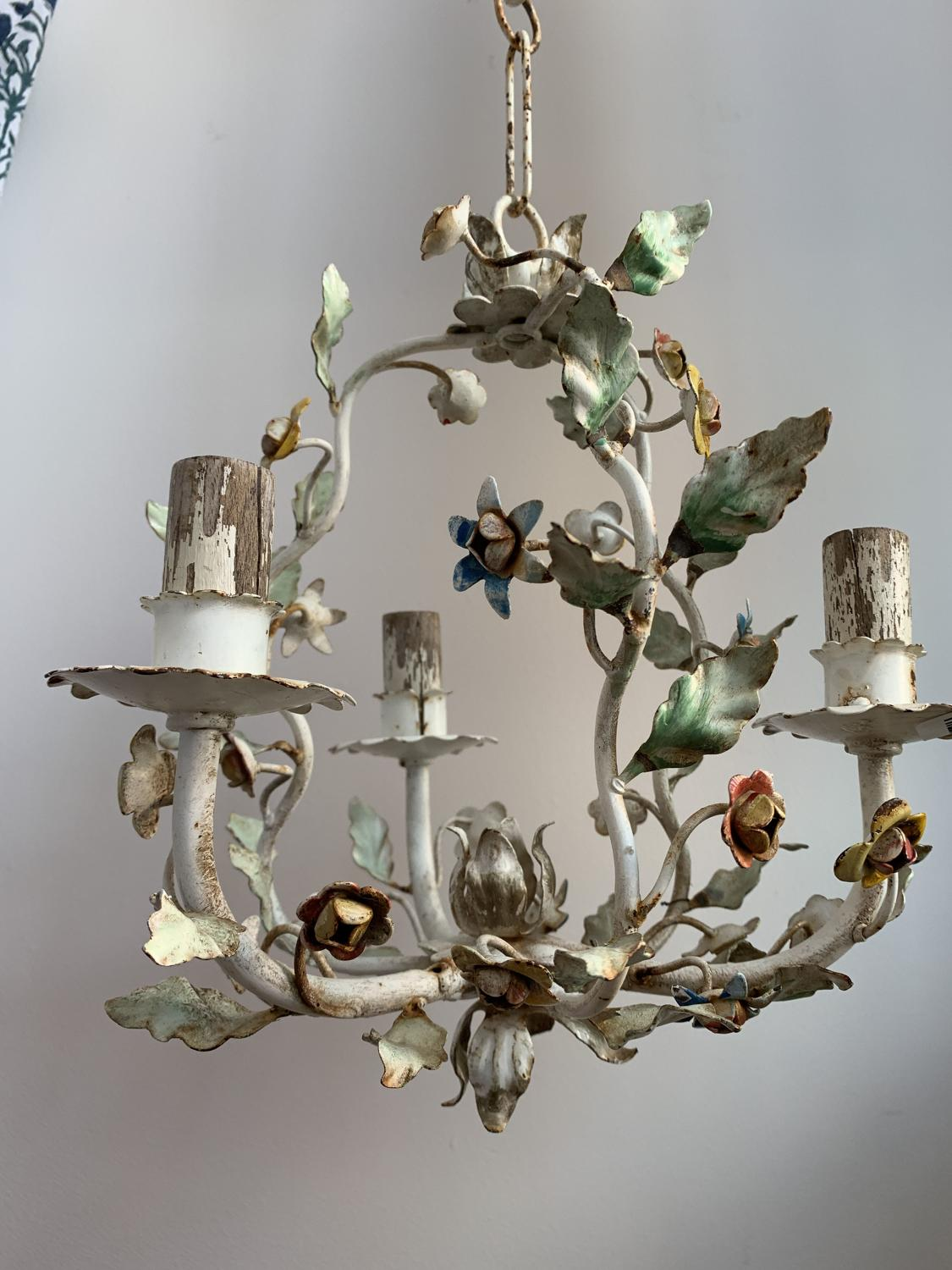 Mid Century French toleware chandelier