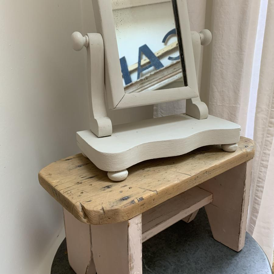 Very small Victorian swing mirror