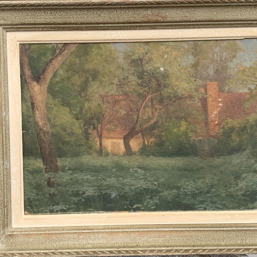 Old French oil on Canvas in original frame