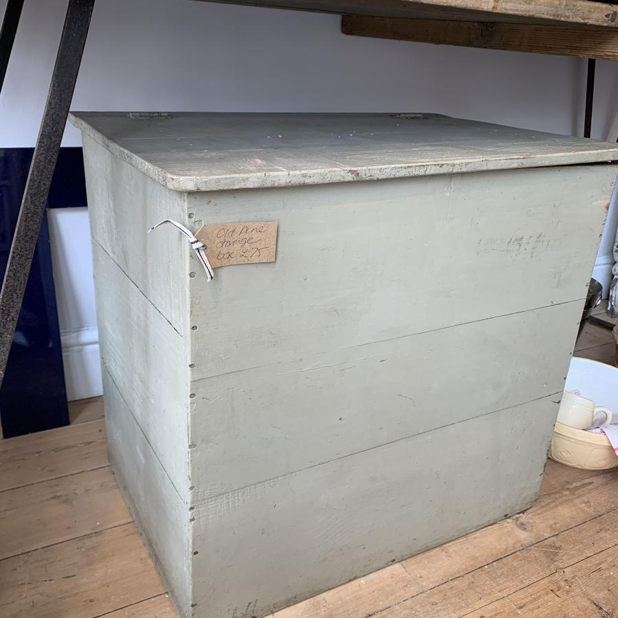 French storage box with original paint