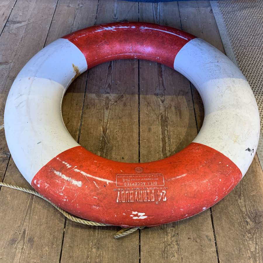 Vintage life buoy ring
