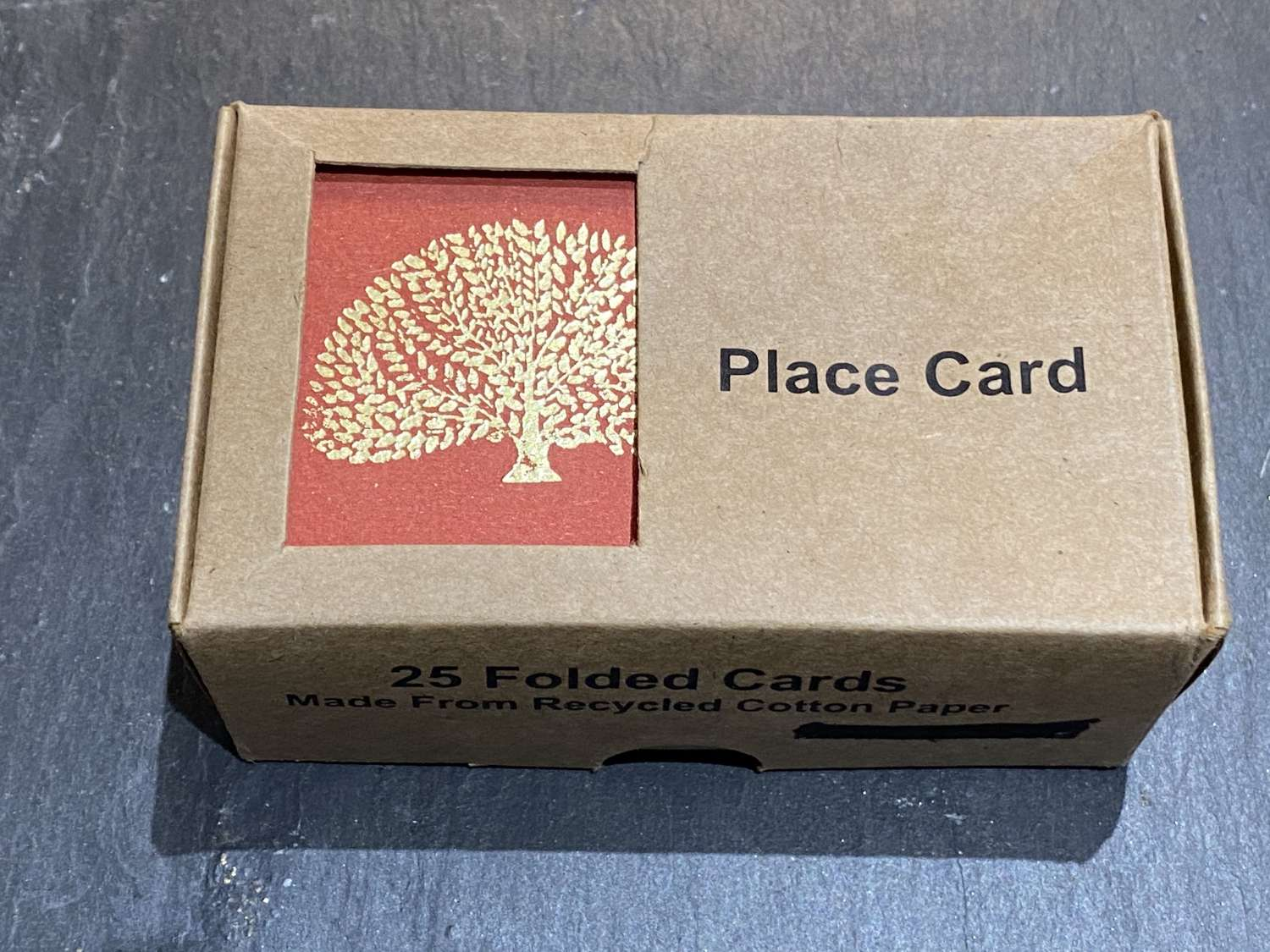 Tree design place cards (Red)