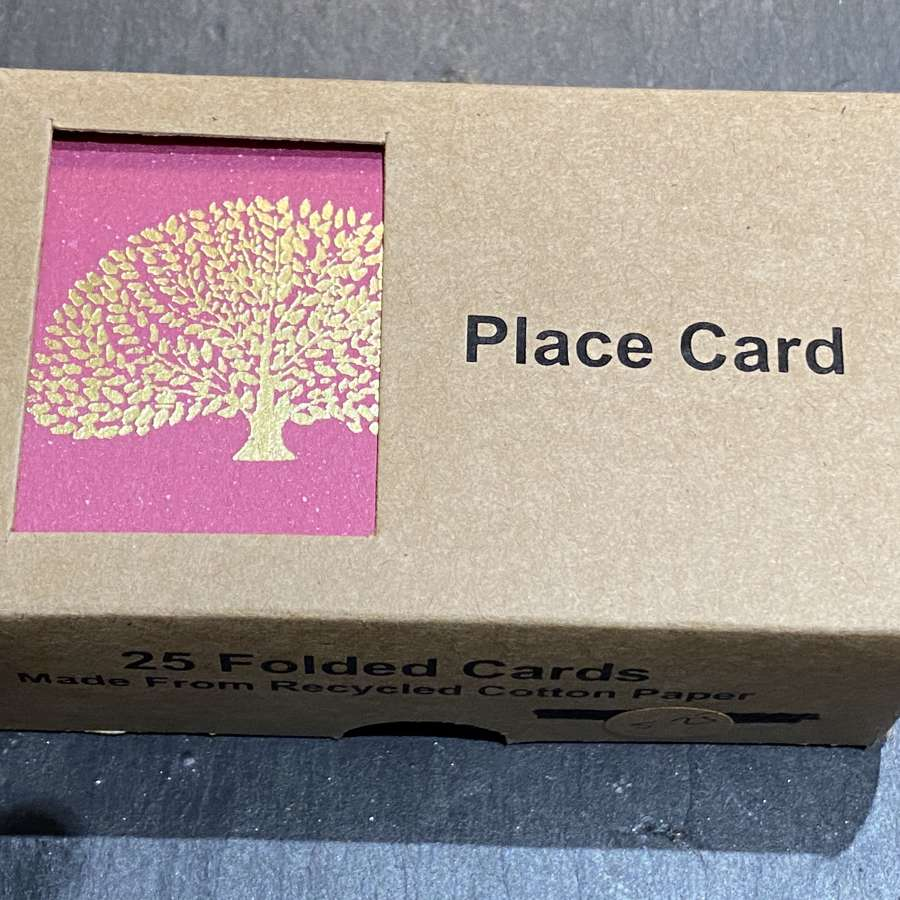 Tree design place cards (Pink)