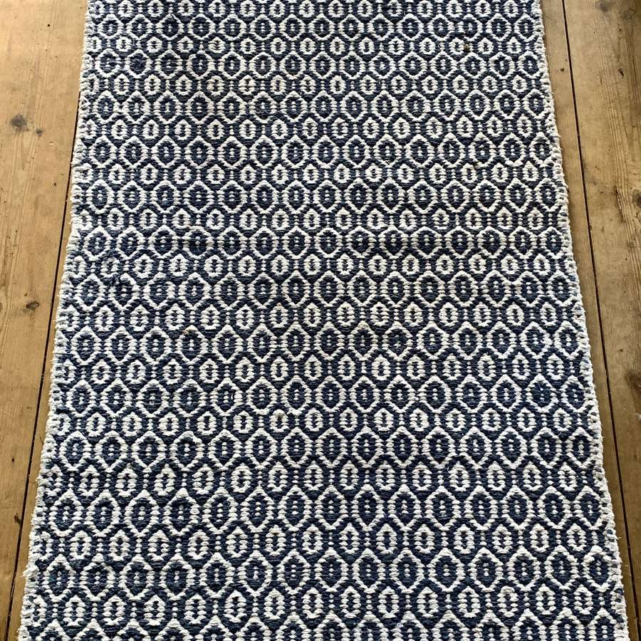 Recycled cotton and jute rug