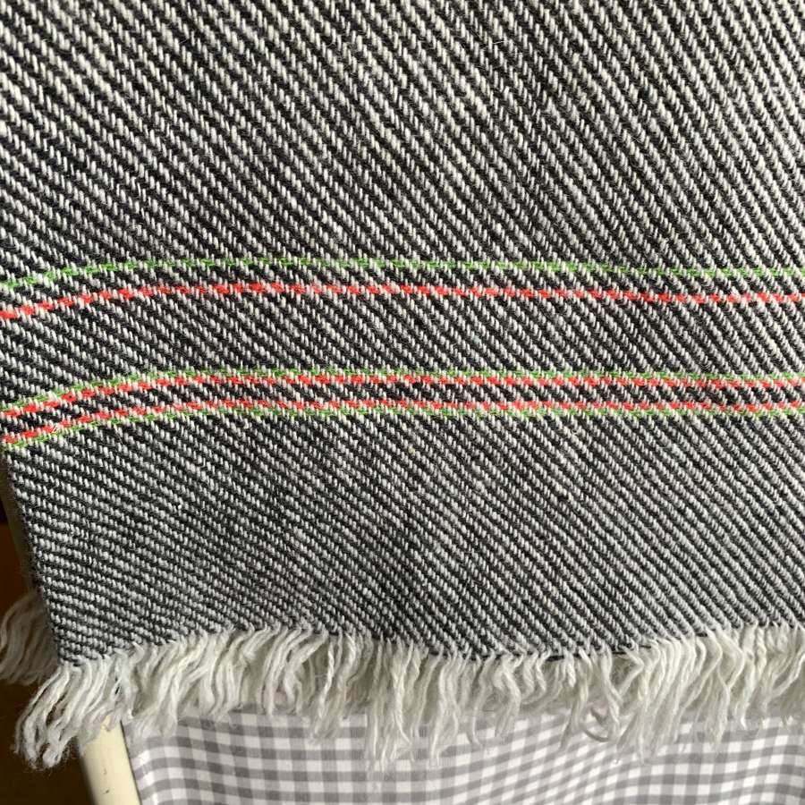 Hand woven woollen blanket/throw