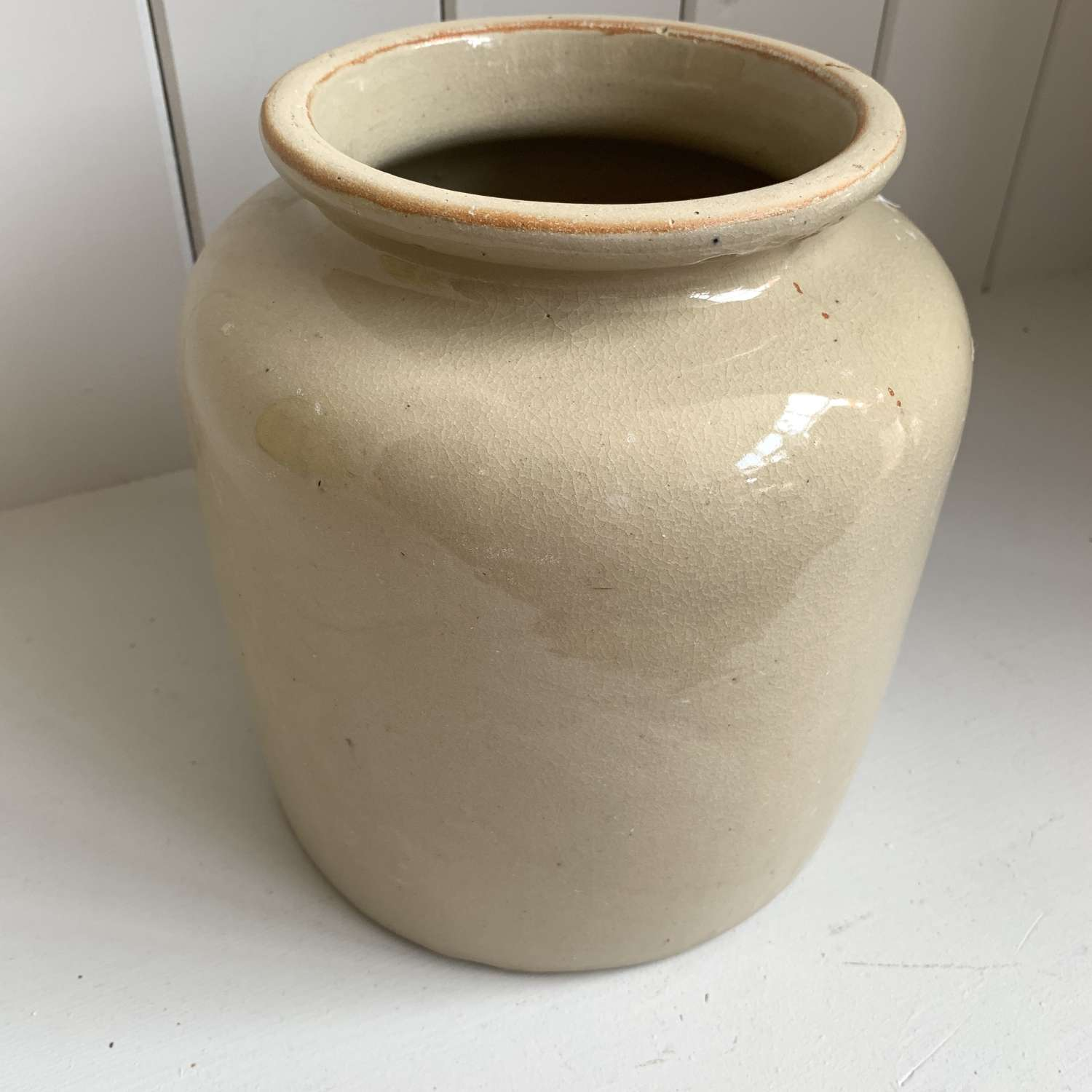French stoneware confit pot