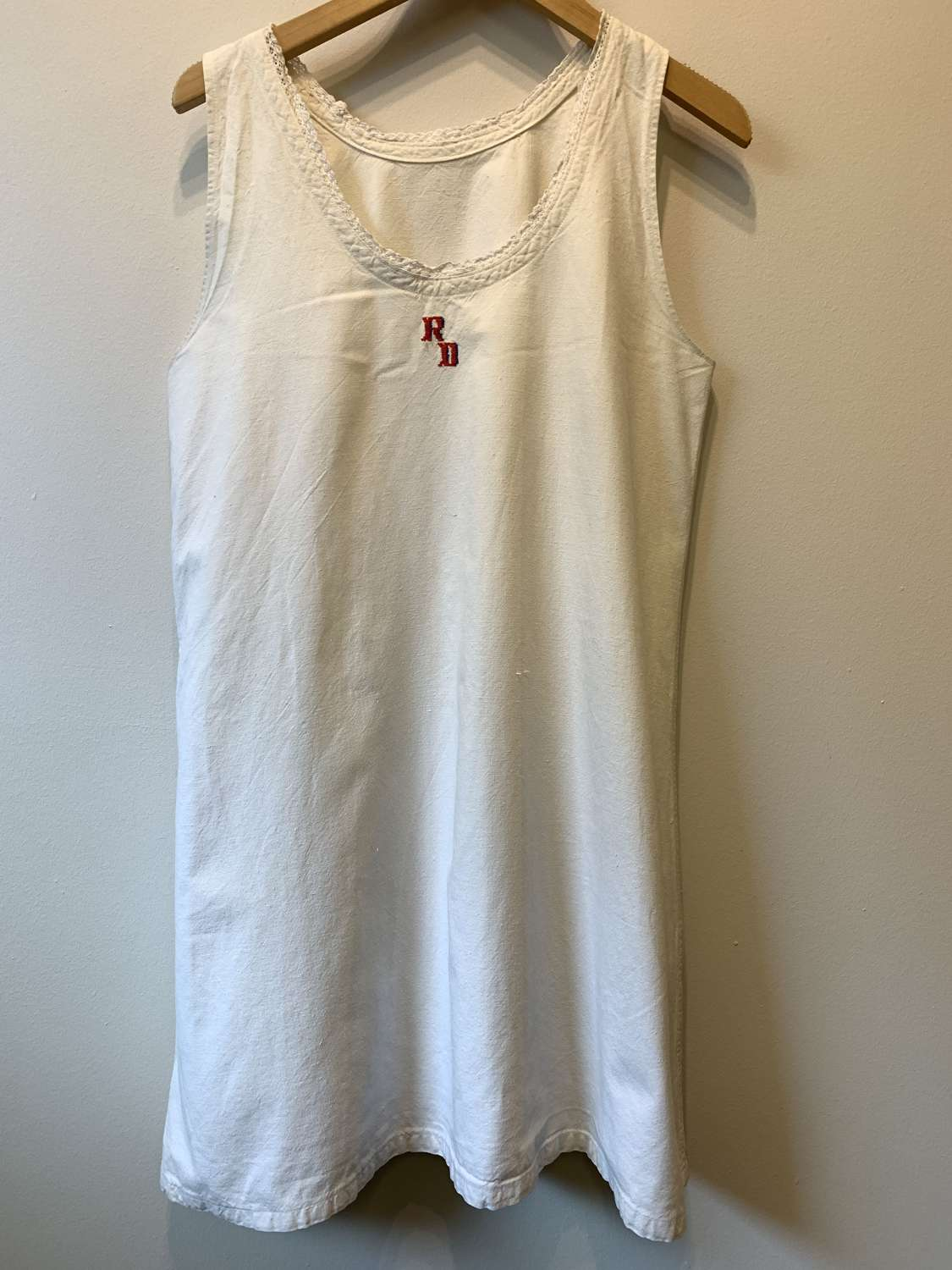 Vintage French chemise with momogramme