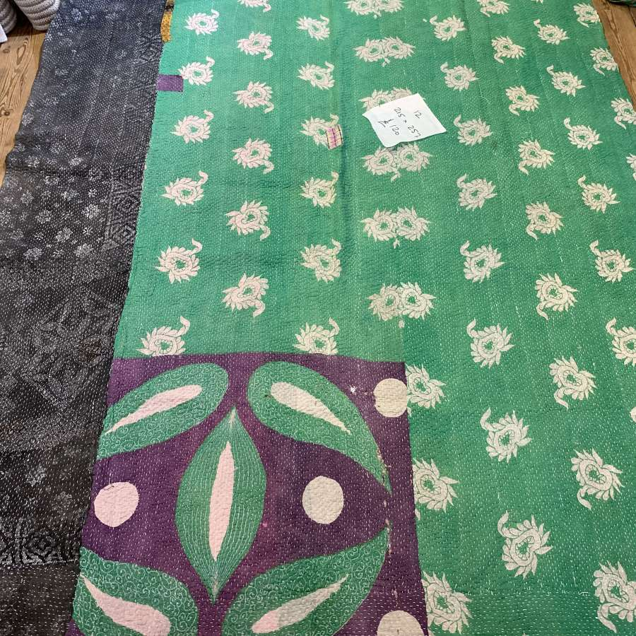 Antique Kantha Quilt