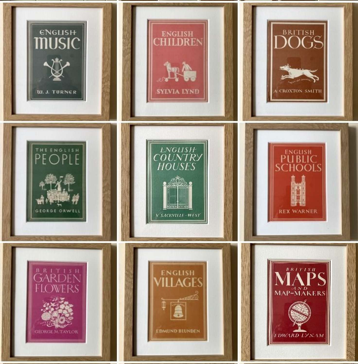 Custom framed vintage books 10 x 12ins