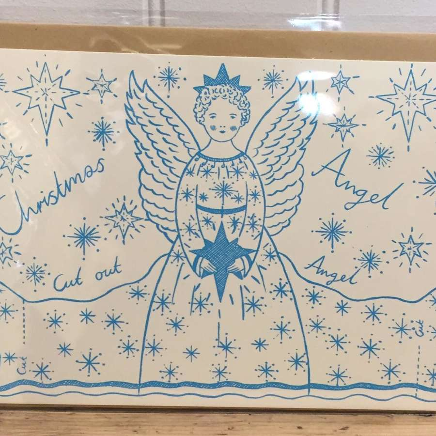 Christmas Angel tree topper card decoration (cut-out)