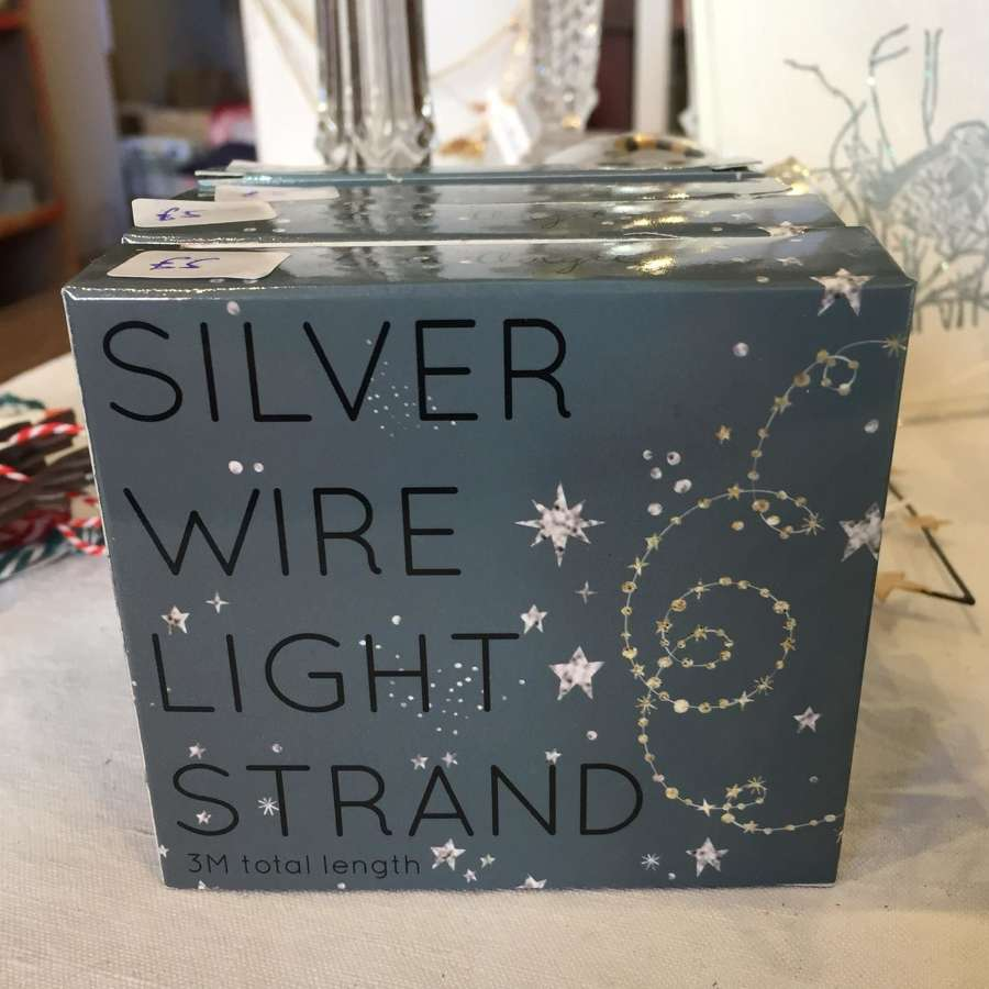 Silver Wire Light Strand ( AA Batteries required)