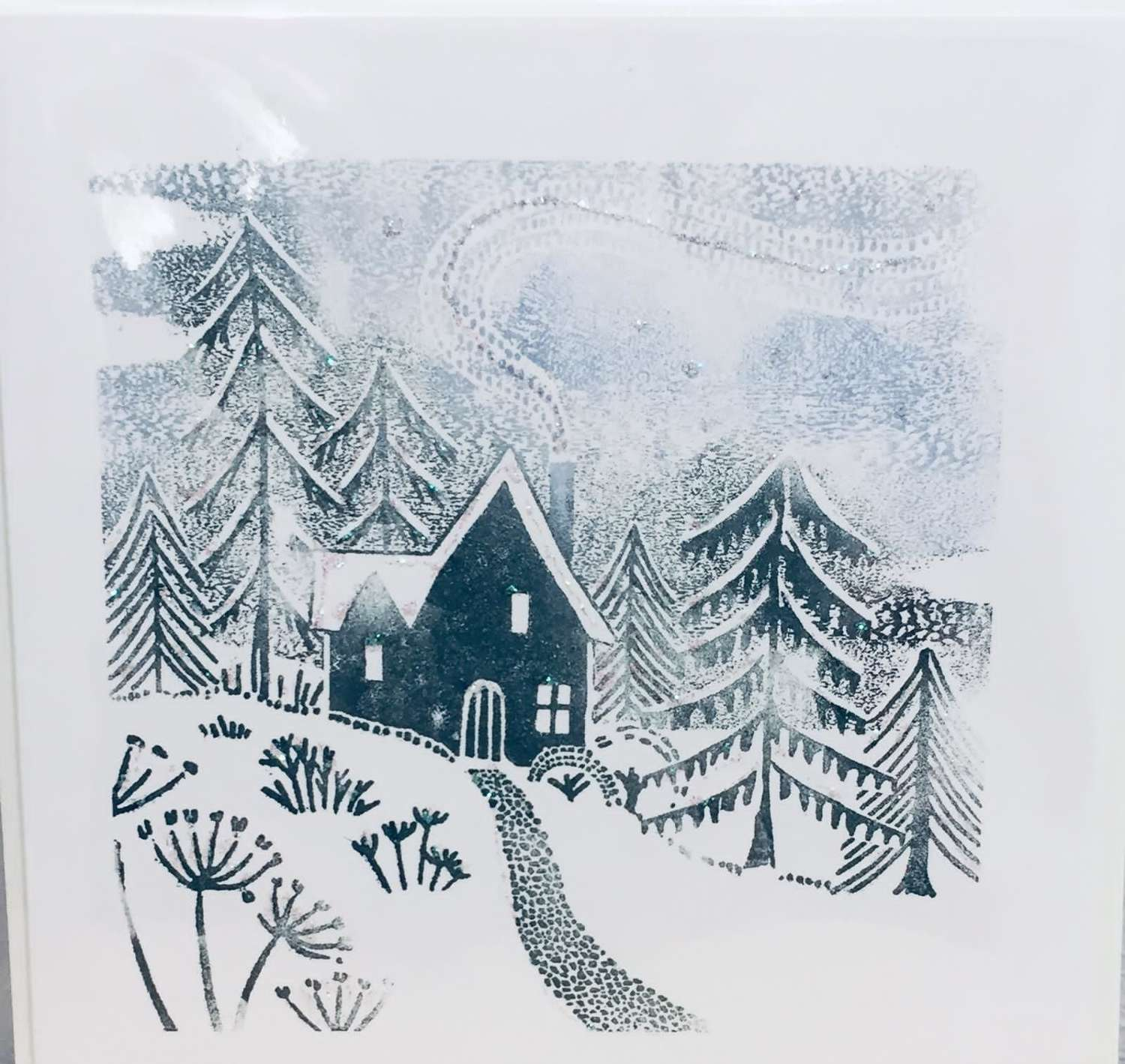 Ali Cooper Christmas Card (Cottage in Forrest)