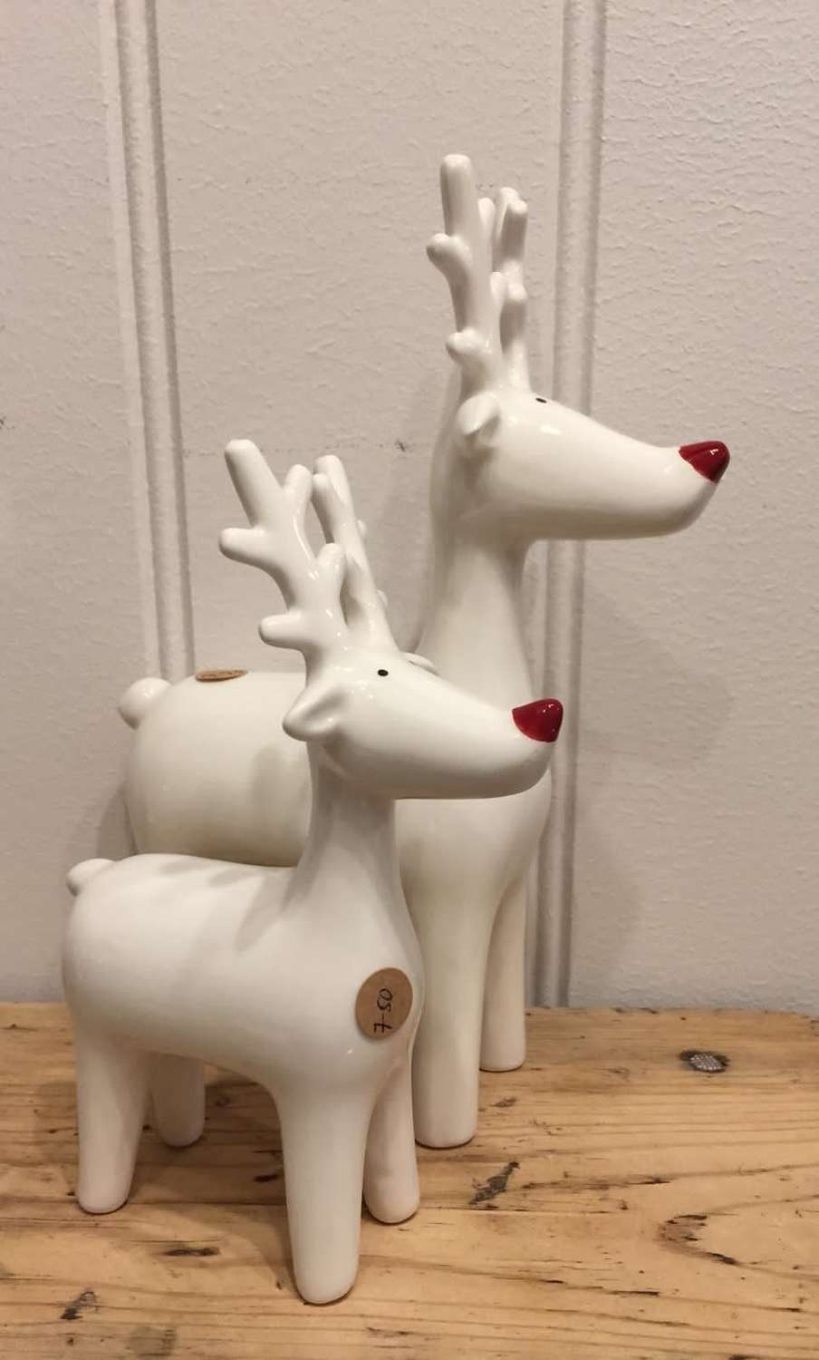 Reindeer with red noses!! Large (sold individually)