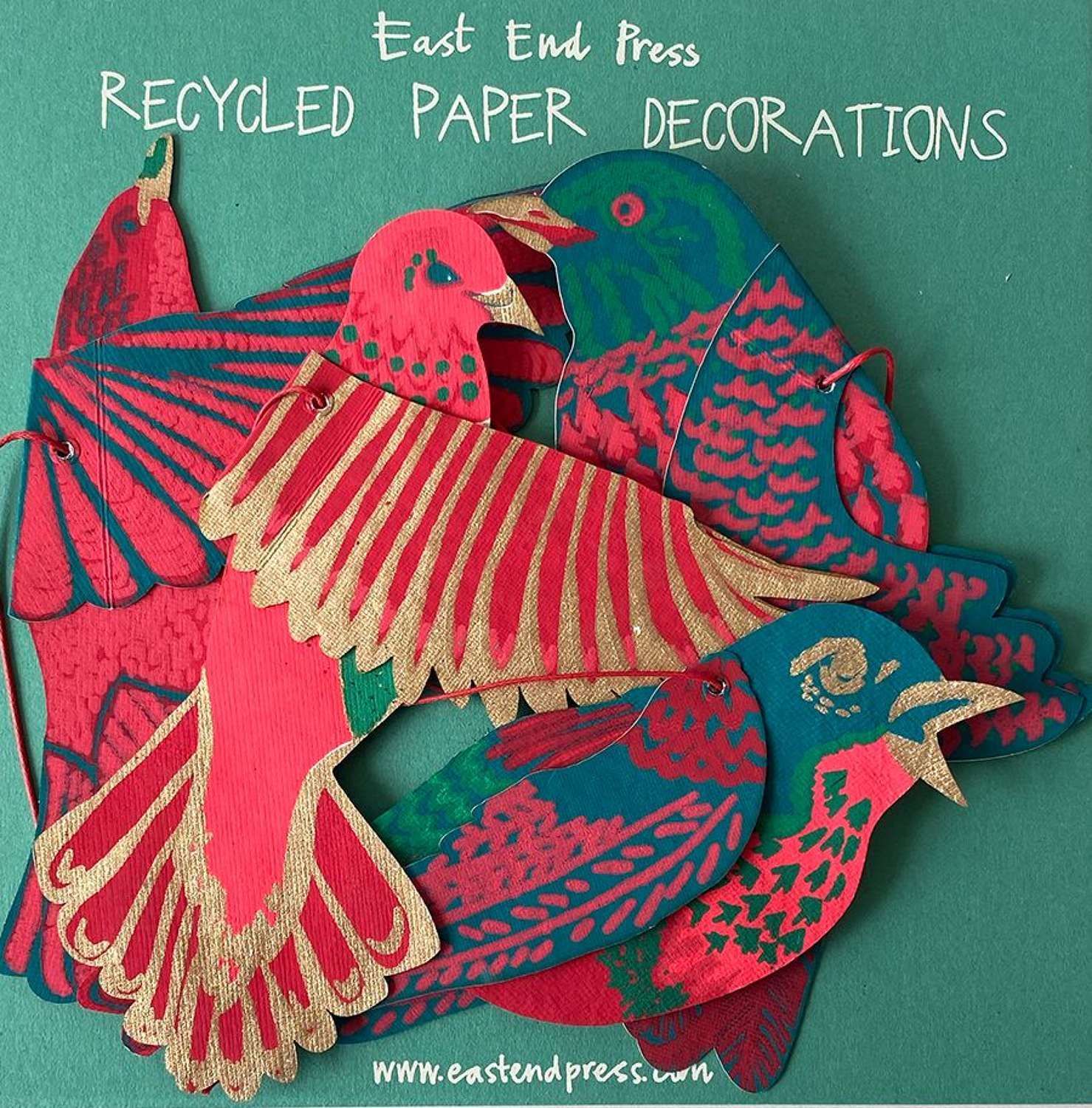 Hand Printed Paper Decorations