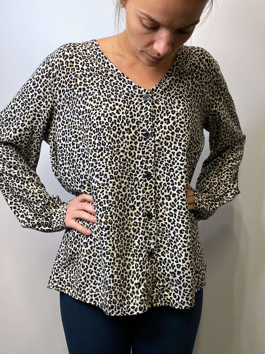 Animal print blouse - one size