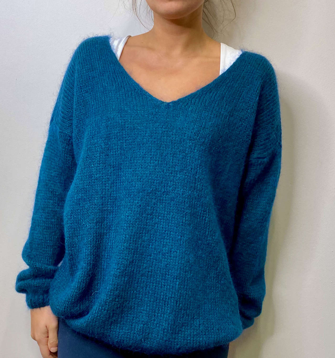 Mohair mix jumper - sky blue