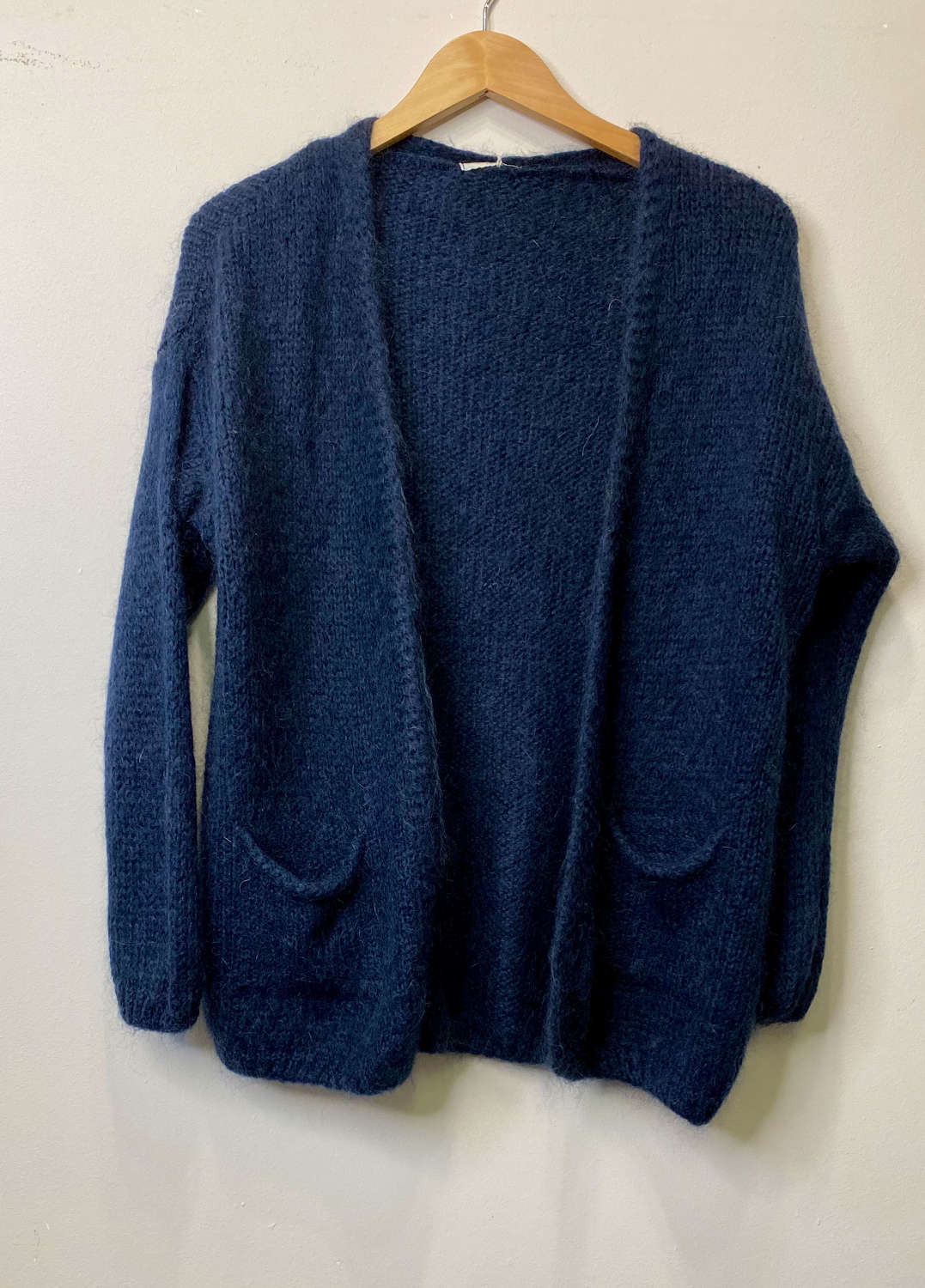 Chunky mohair mix cardigan with pockets