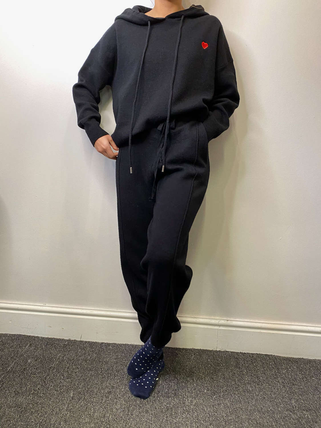 Hoodie and joggers in fine soft knit