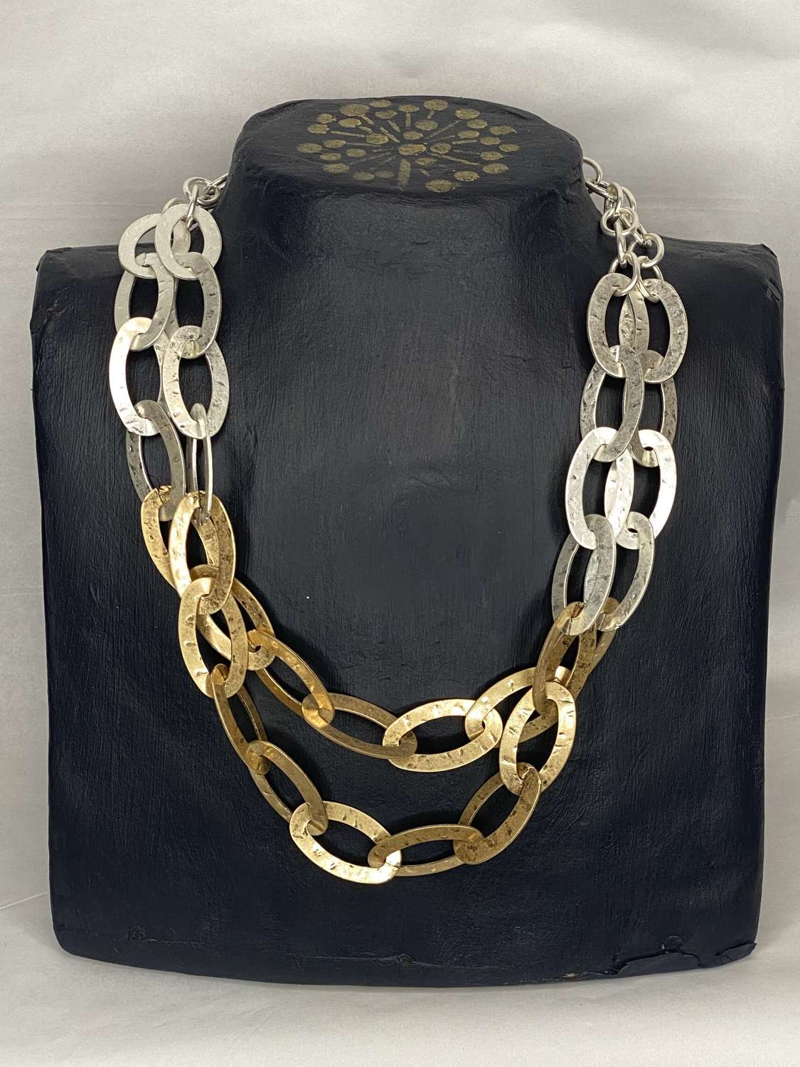 Envy Silver and gold chain necklace