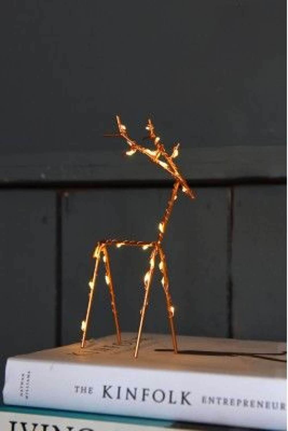 Copper wire light up reindeer 20cms and 30cms  (20cms in picture)
