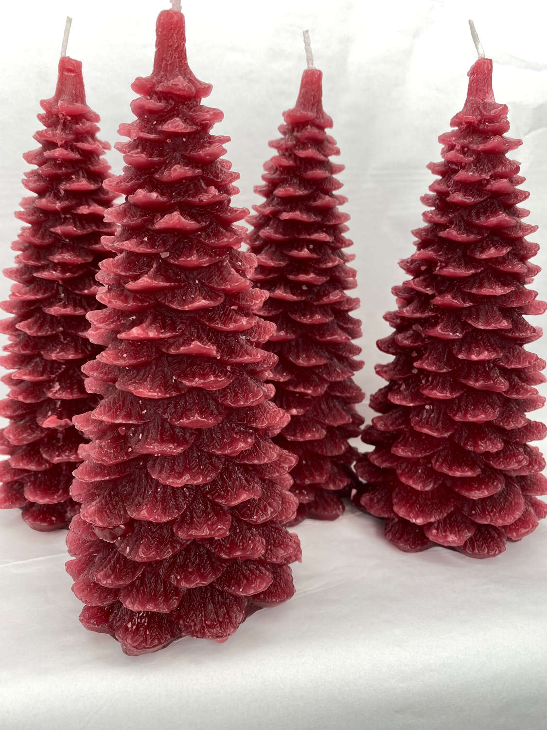 Danish Christmas Tree candle - red