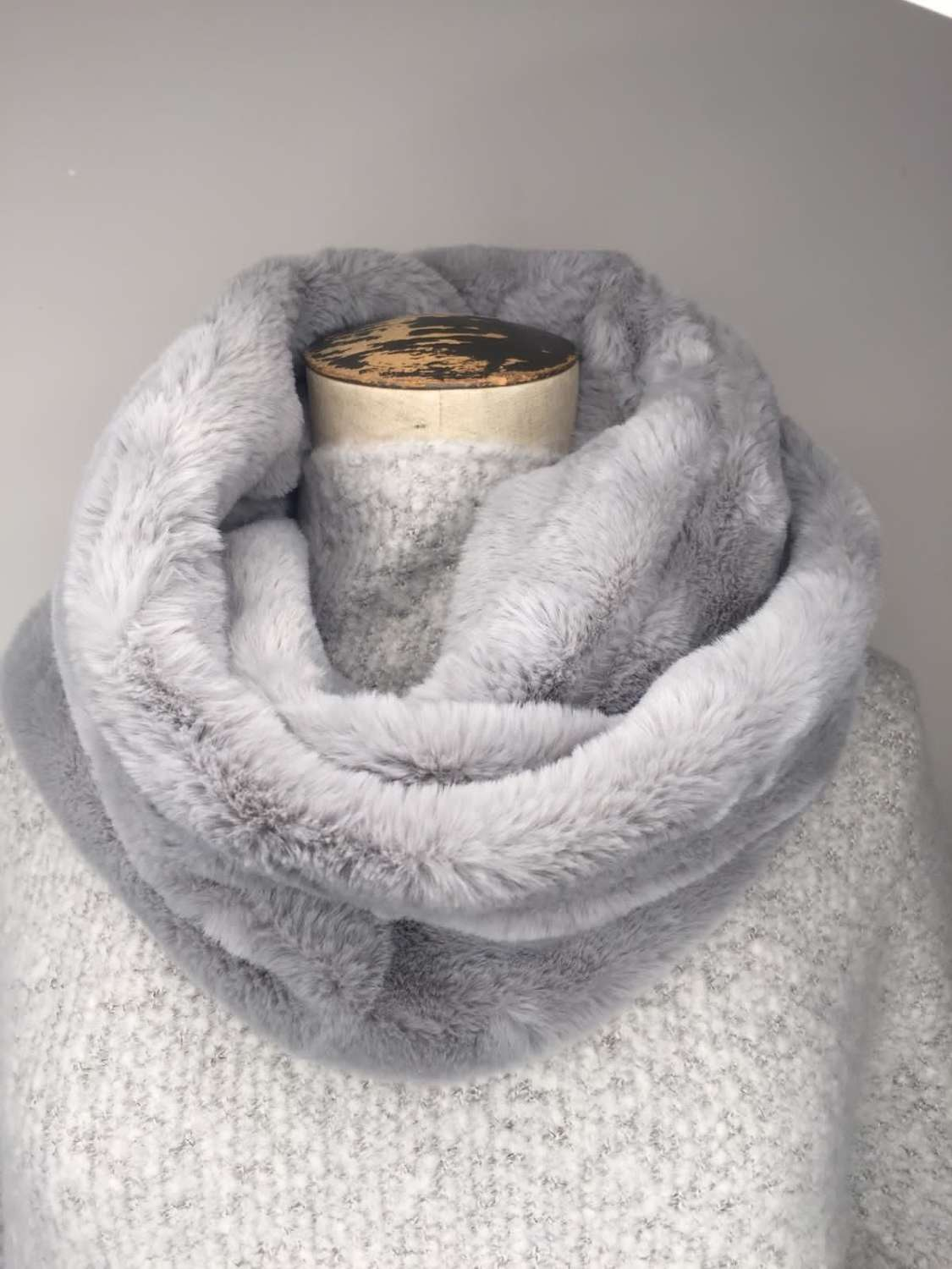 Faux Fur Snood - Grey