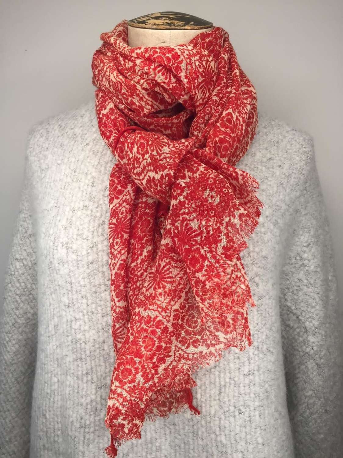 Jo Edwards Scarf - Red