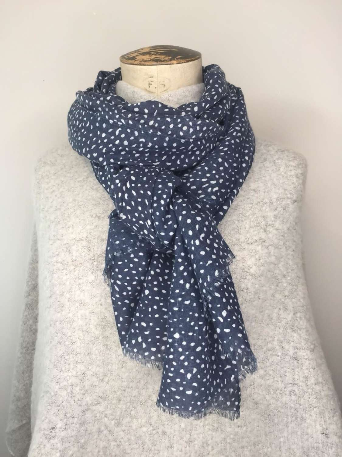 Blue & White Scarf