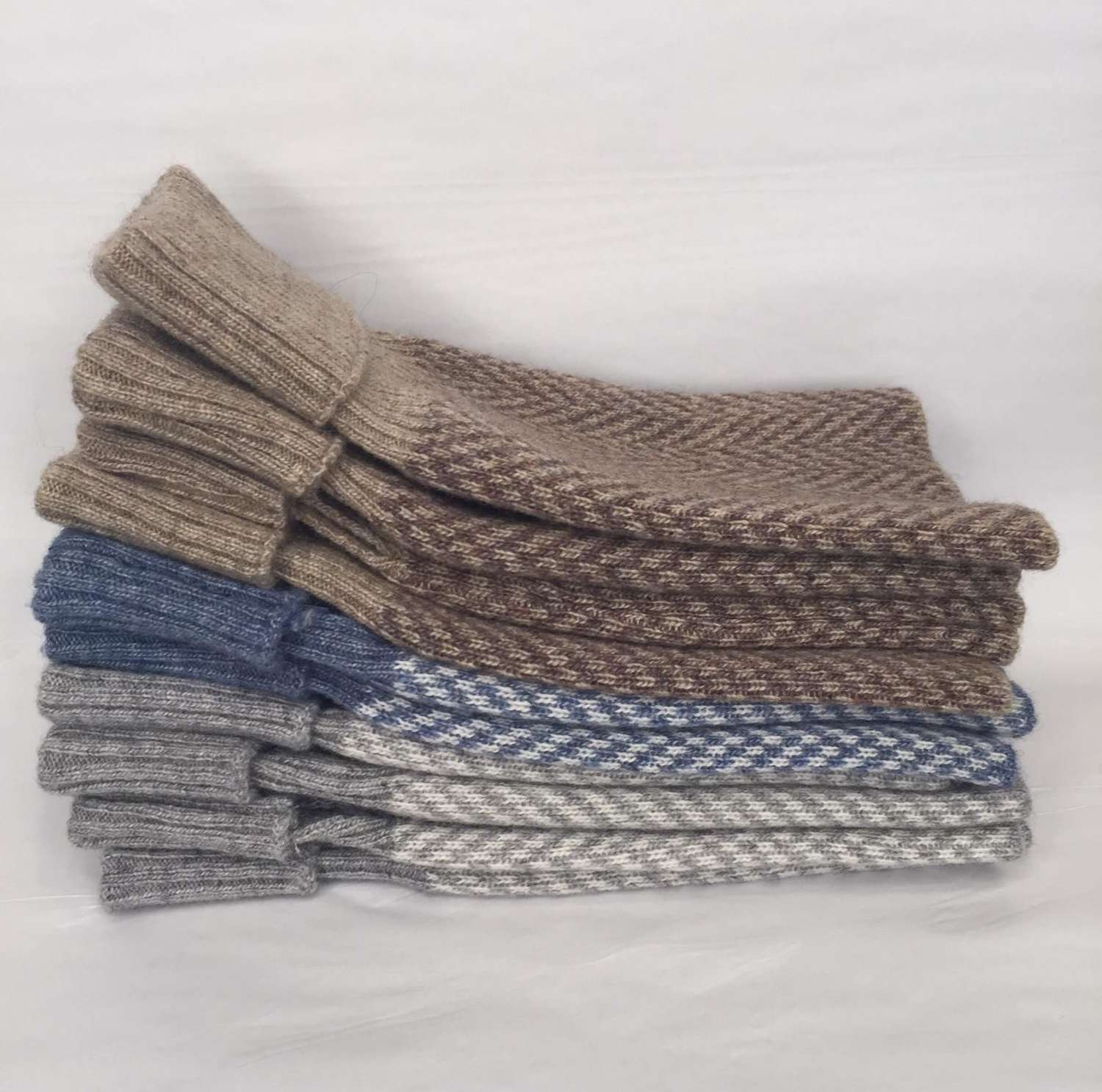 Herringbone wrist warmers (3 colours available) 1 pair grey left!
