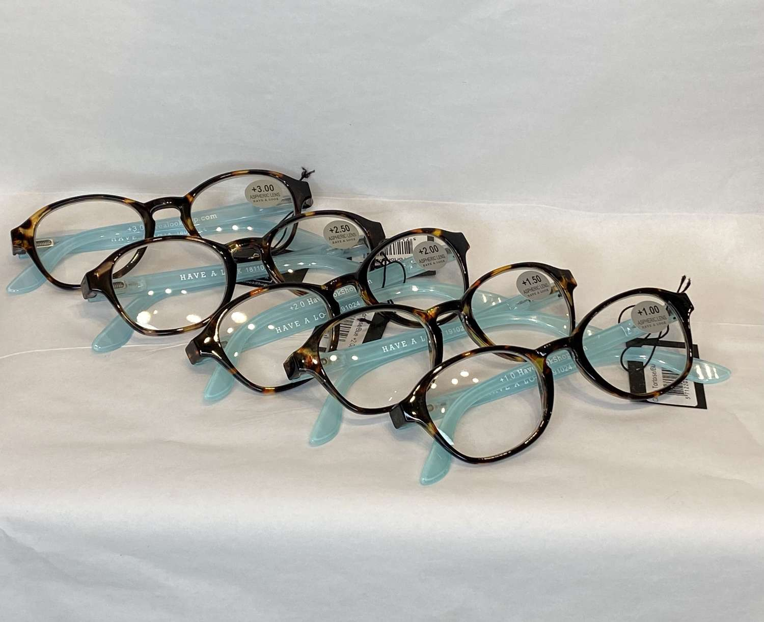 Reading glasses - tortoiseshell & blue