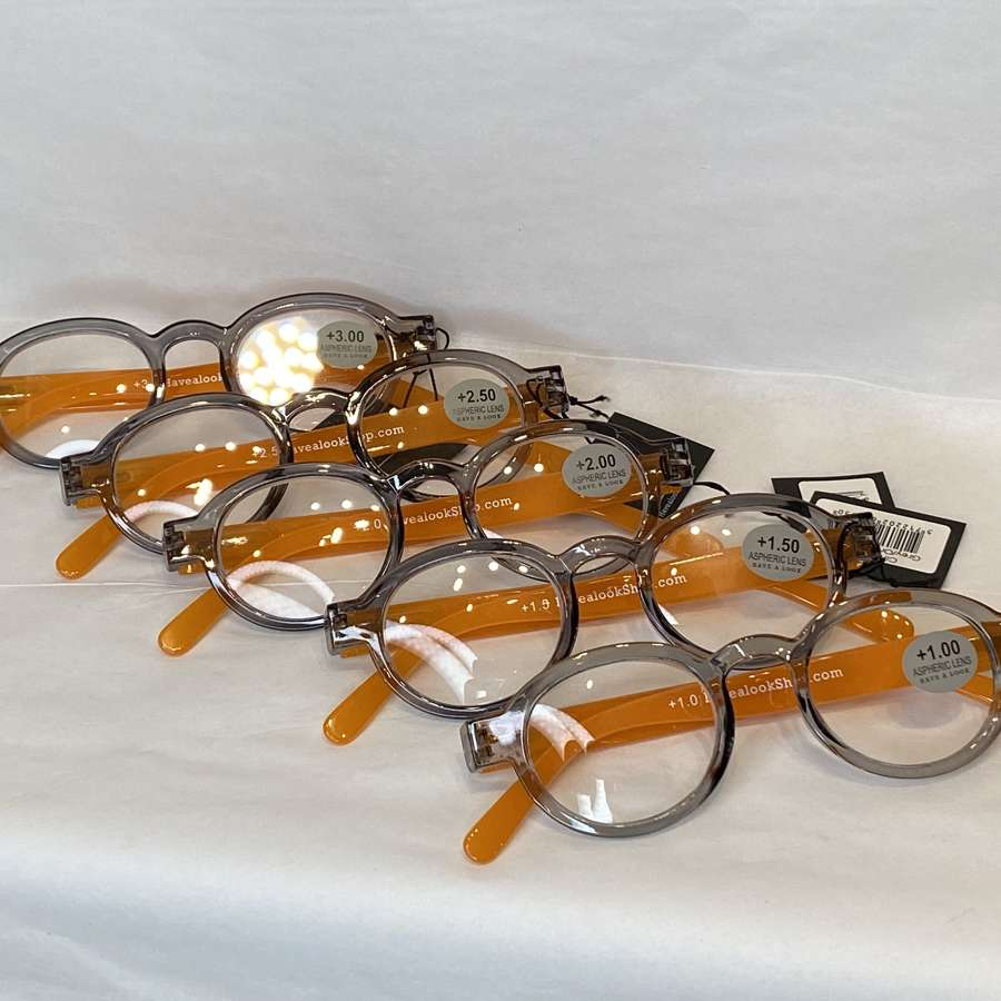 Reading glasses - grey/orange