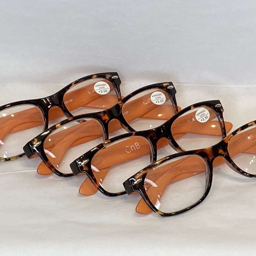 Reading glasses - tortoiseshell & orange