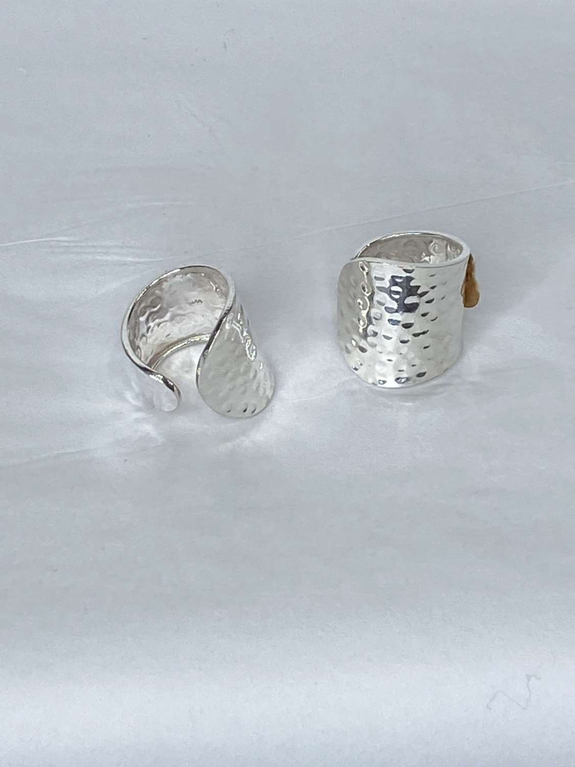 Hammered Stirling silver ring - One Size fits all