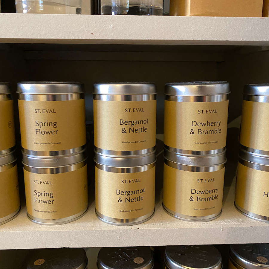 St Eval candles in tins