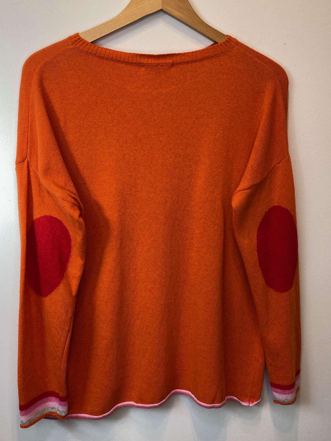 Cashmere and wool (50/50) Jumper with elbow patches